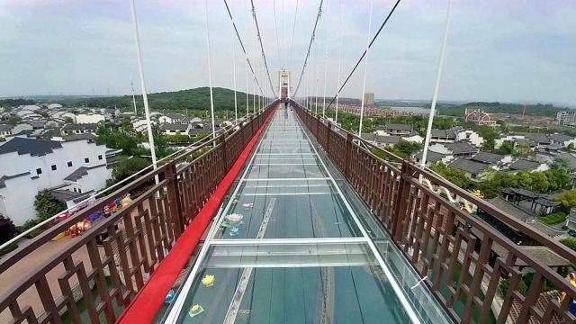 """网红玻璃栈道有""""天空之路""""美称-合肥版的迪斯尼乐园"""